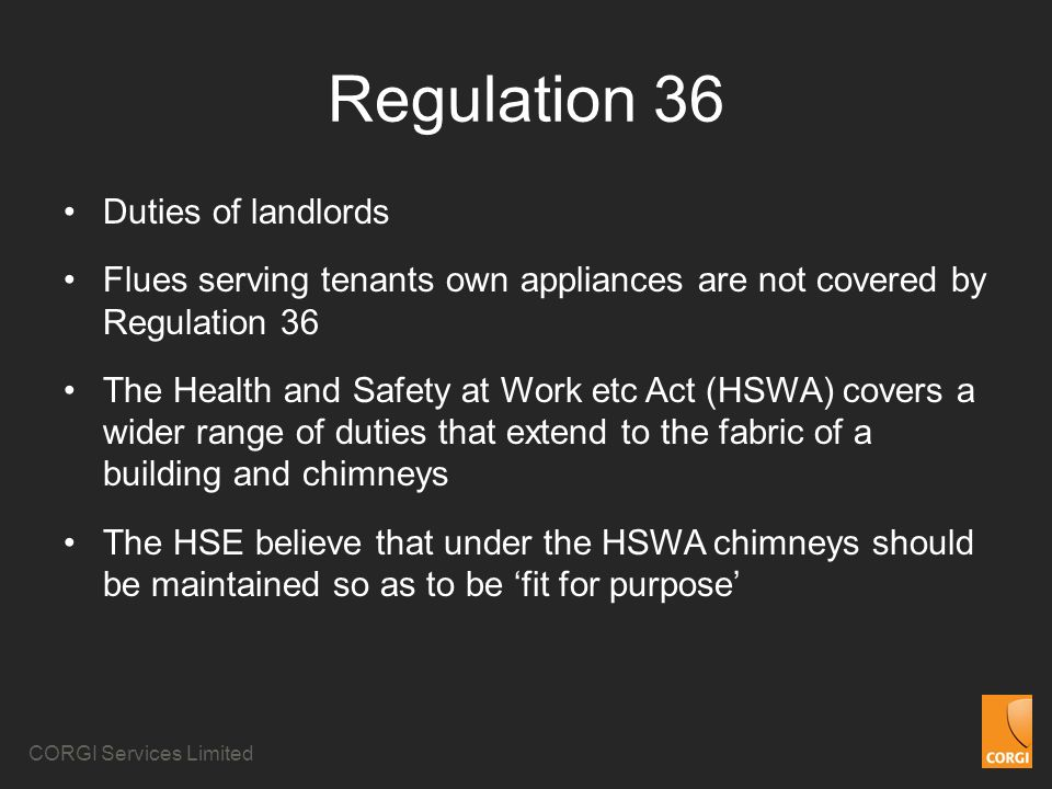 Regulation 36 Duties of landlords