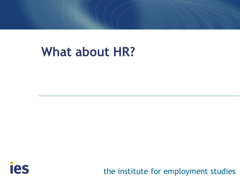 What about HR