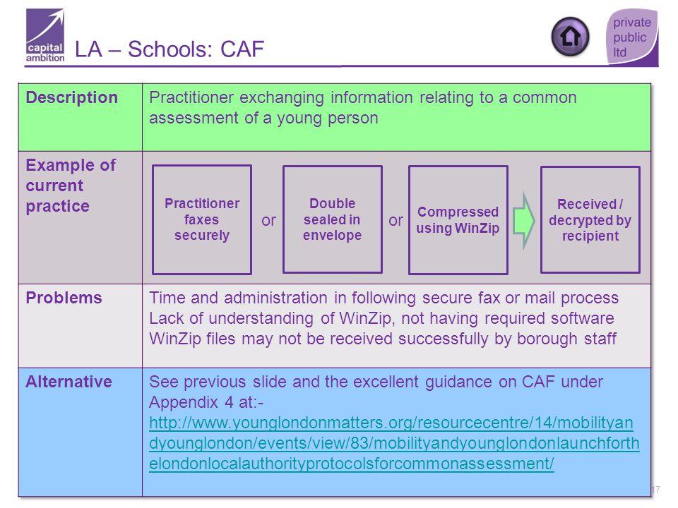 LA – Schools: CAF Description