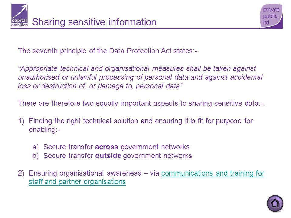 Sharing sensitive information