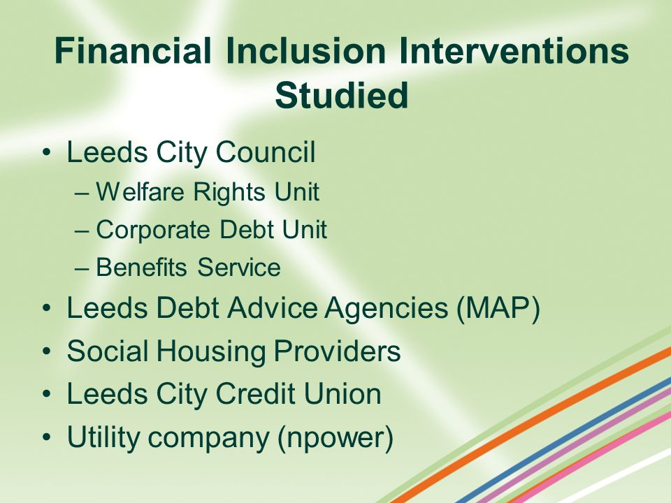 Financial Inclusion Interventions Studied