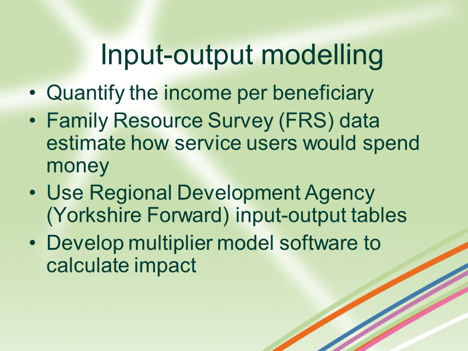 Input-output modelling