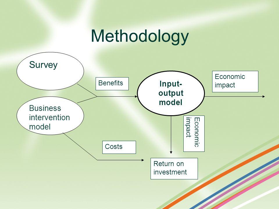 Methodology Survey Input-output model Business intervention model