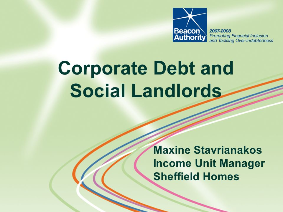 Corporate Debt and Social Landlords