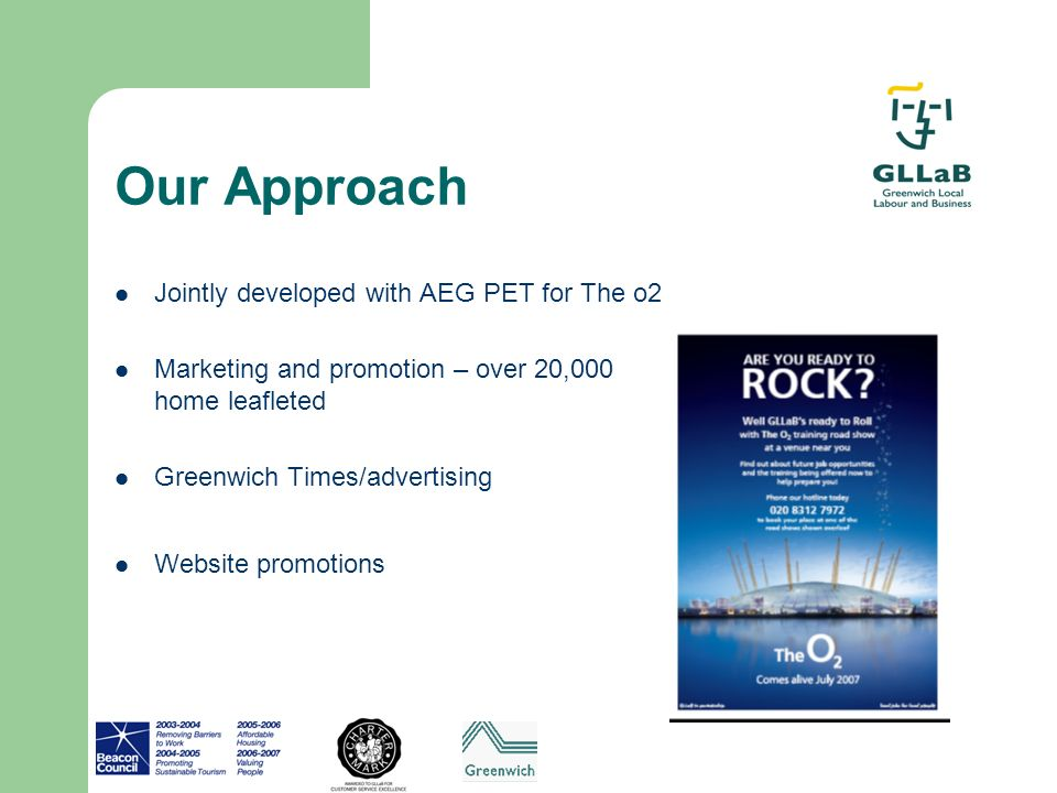 Our Approach Jointly developed with AEG PET for The o2