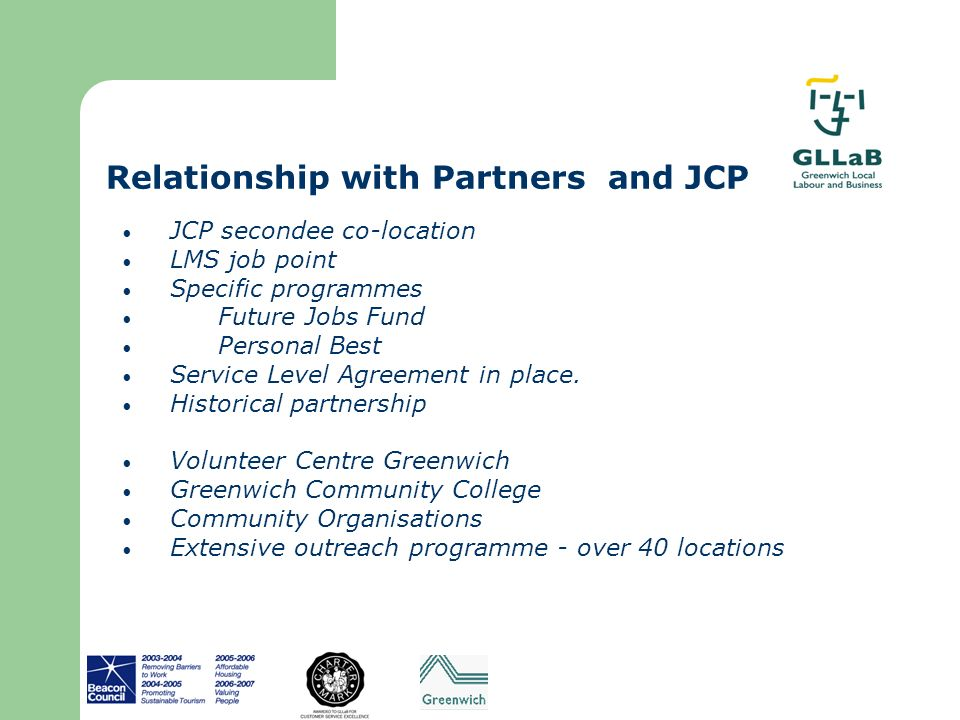 Relationship with Partners and JCP