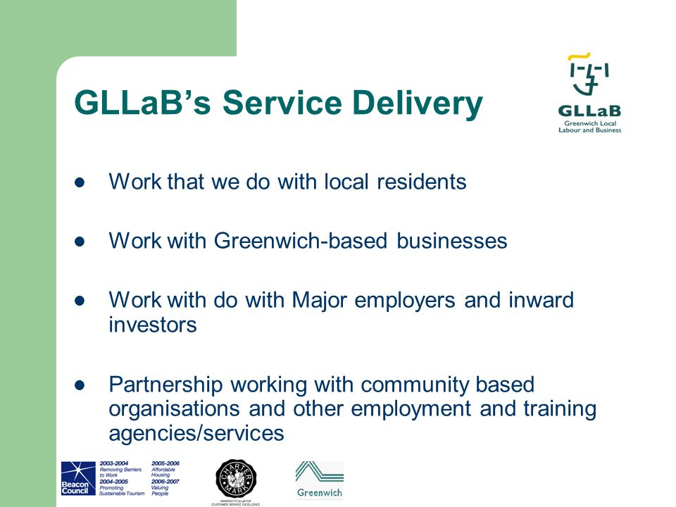 GLLaB's Service Delivery