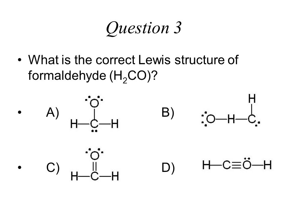 Lewis Dot Structure For H2co H2coh Lewis Structure