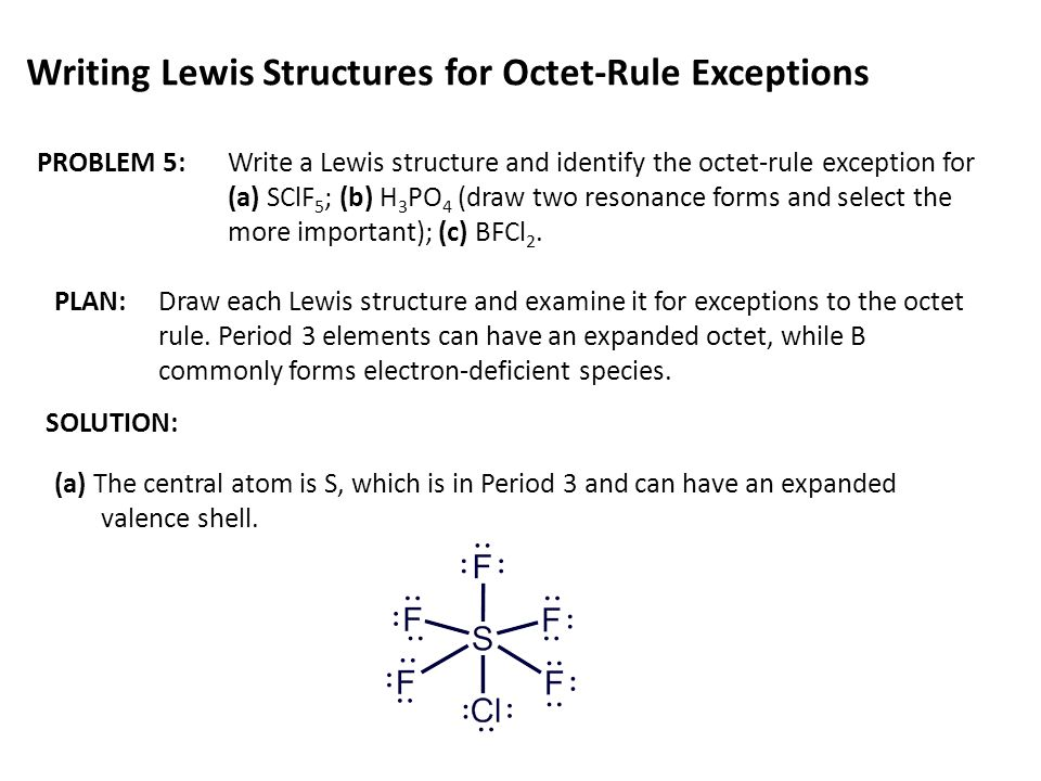 Writing Lewis Structures of Simple Covalent Molecules ...