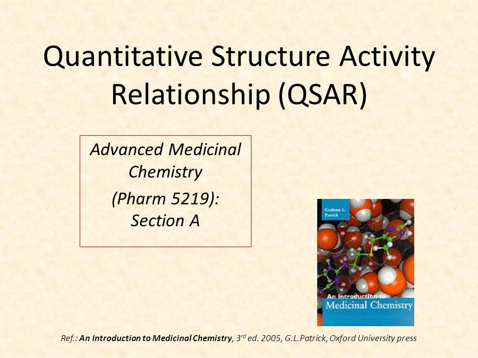 quantitative structure activity relationship in drug design and discovery