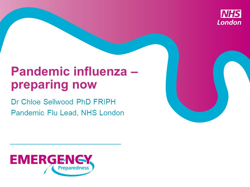 Pandemic influenza – preparing now