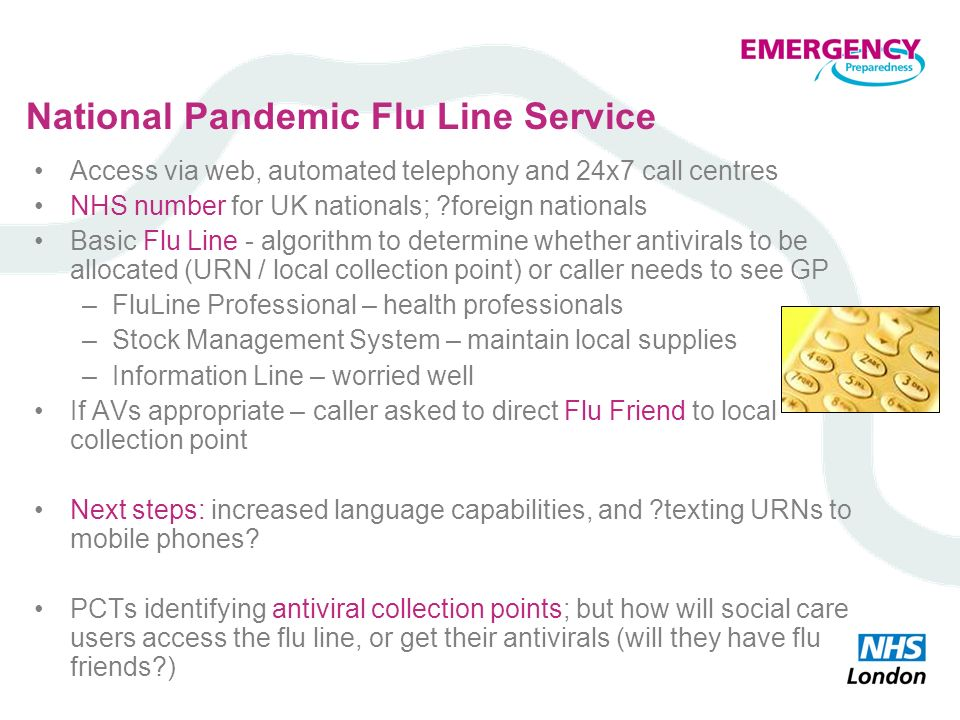 National Pandemic Flu Line Service