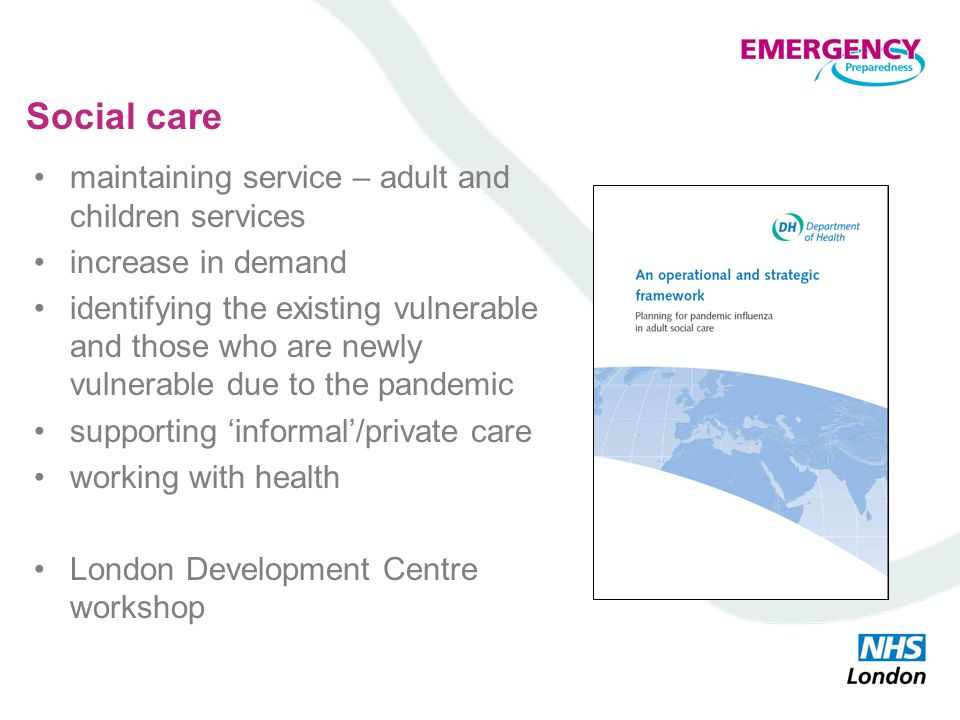 Social care maintaining service – adult and children services