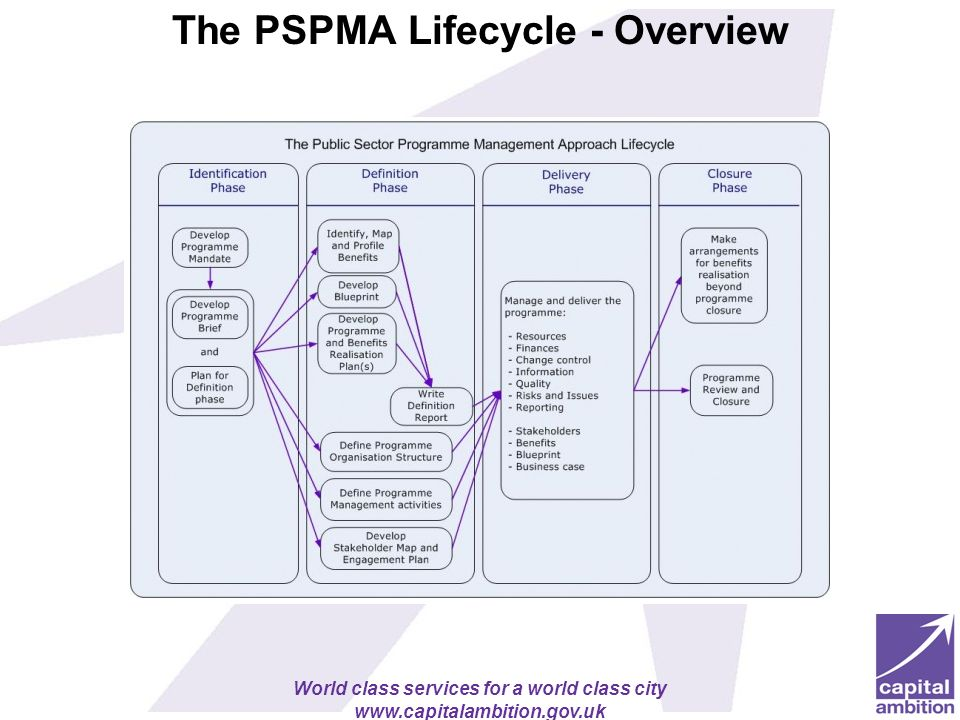 The PSPMA Lifecycle - Overview
