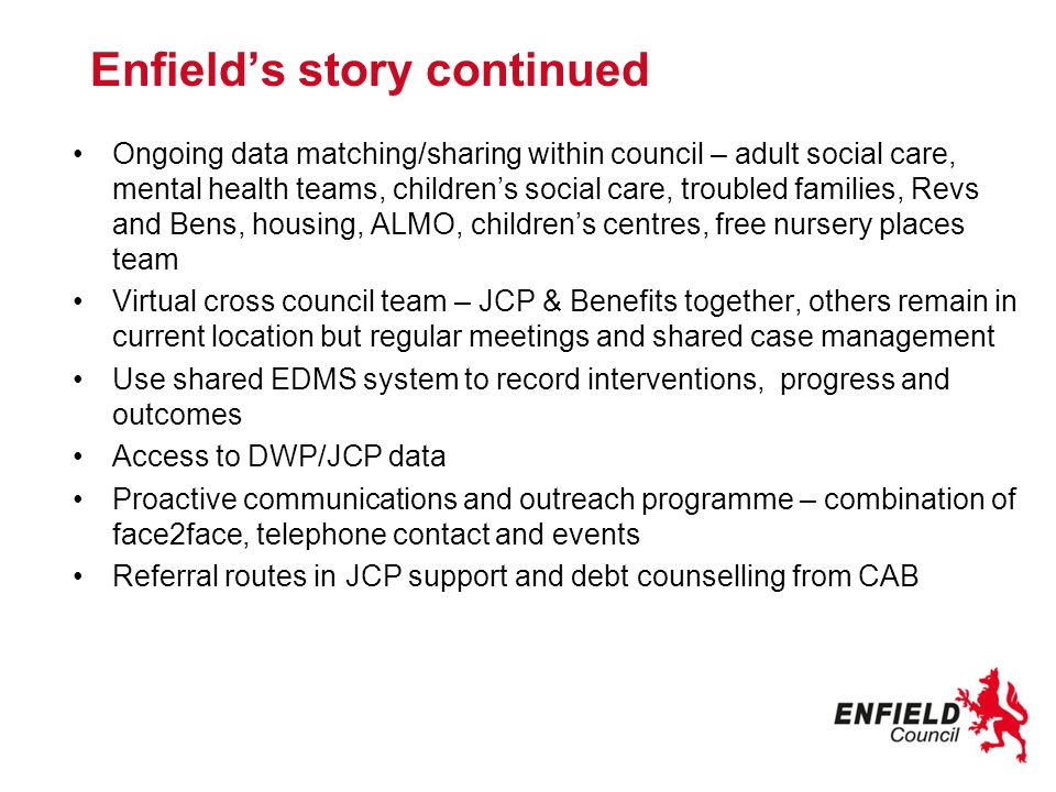 Enfield's story continued