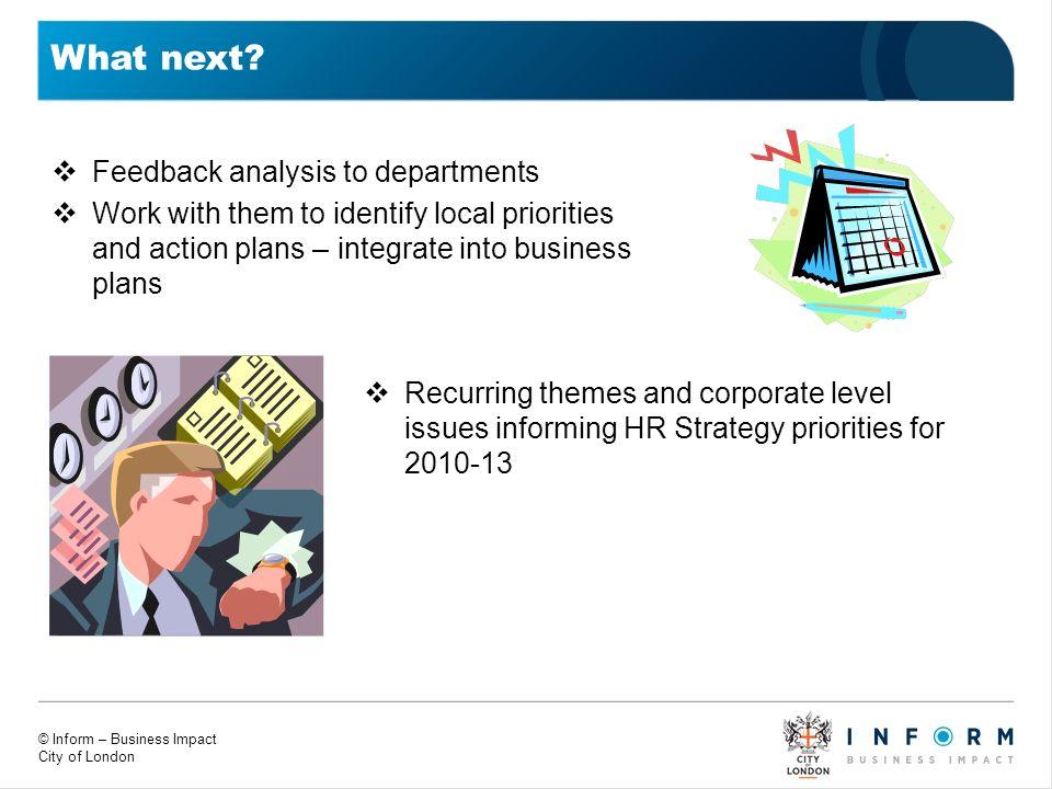 What next Feedback analysis to departments