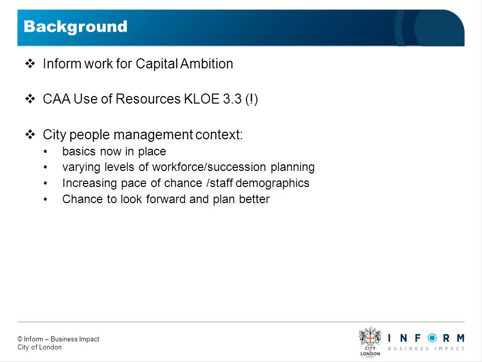 Background Inform work for Capital Ambition