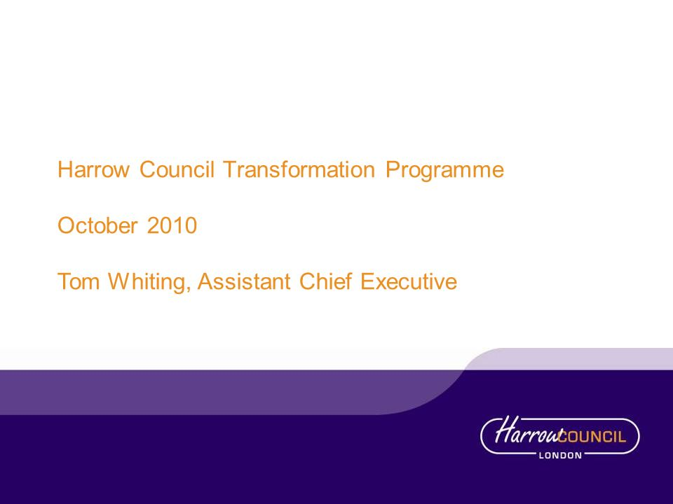 Harrow Council Transformation Programme
