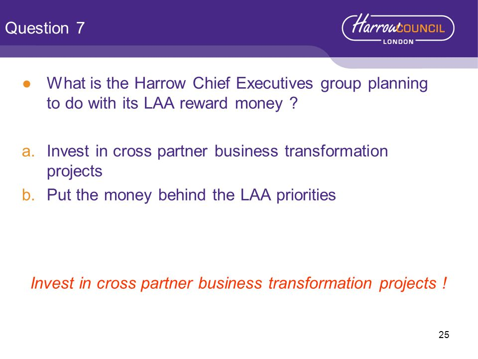 Invest in cross partner business transformation projects !