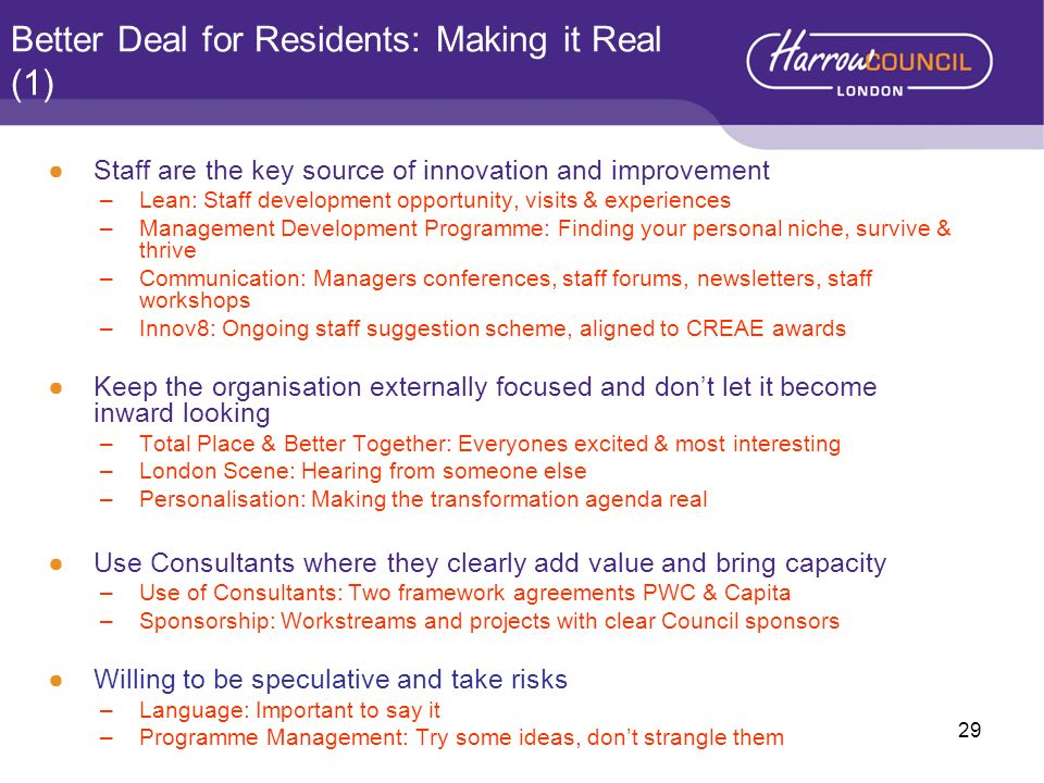 Better Deal for Residents: Making it Real (1)