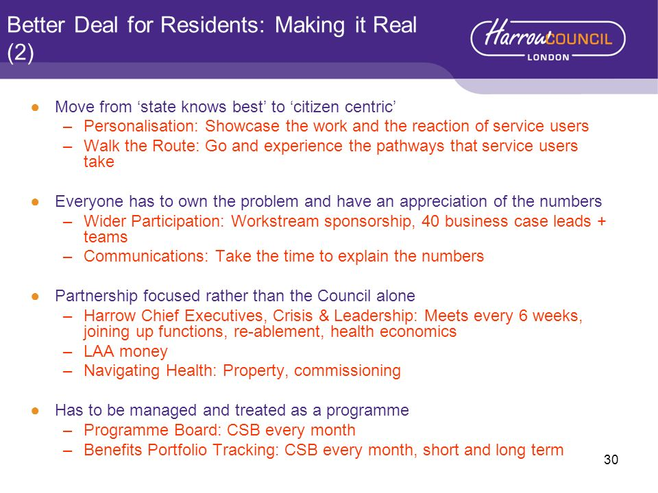 Better Deal for Residents: Making it Real (2)