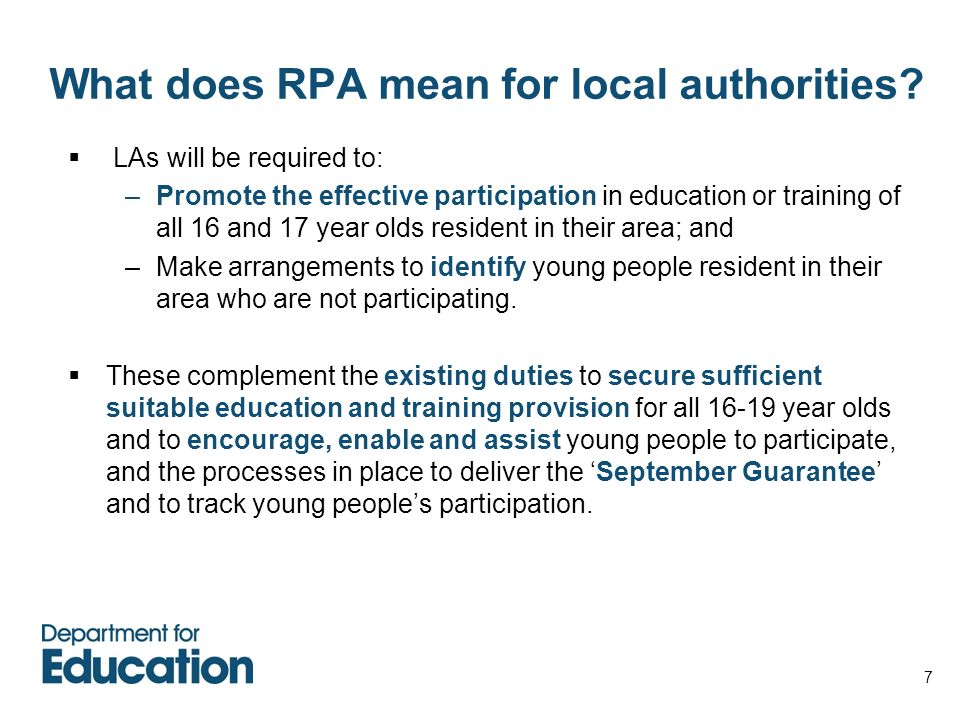What does RPA mean for local authorities