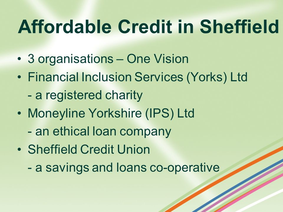 Affordable Credit in Sheffield