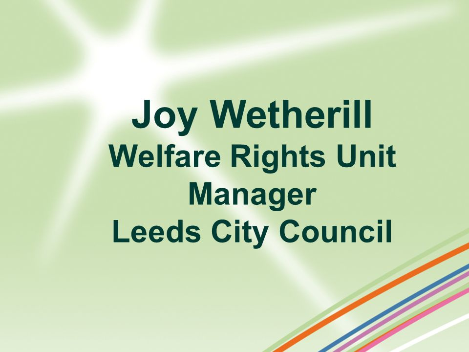 Welfare Rights Unit Manager