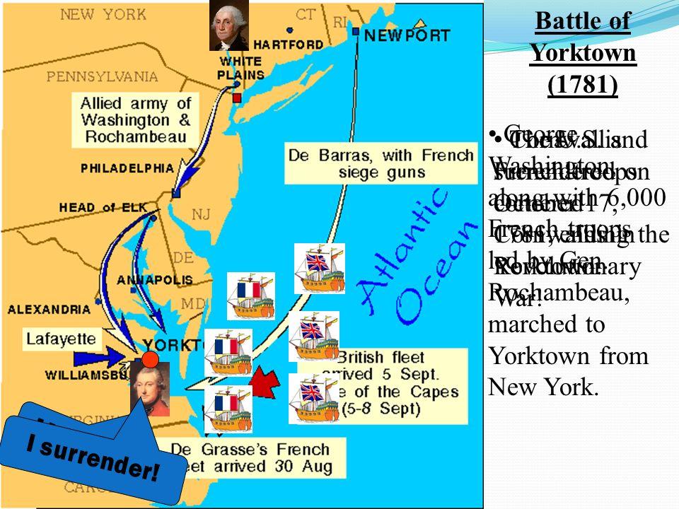 Battle Of Yorktown General Cornwallis Set Up Camp In - Map of us 1781