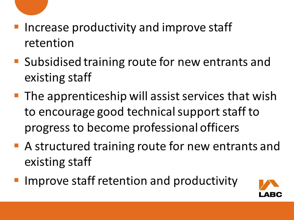 Increase productivity and improve staff retention
