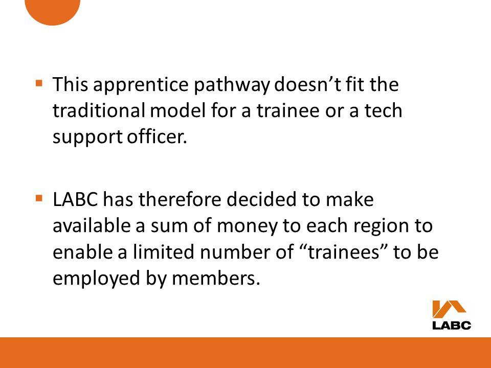 This apprentice pathway doesn't fit the traditional model for a trainee or a tech support officer.