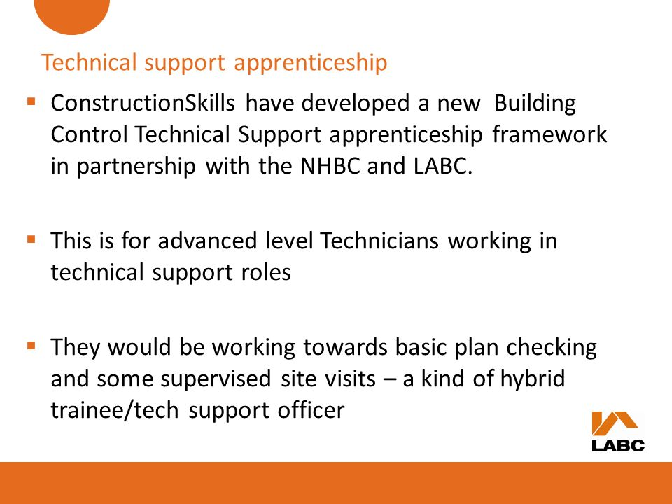 Technical support apprenticeship