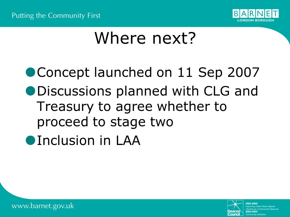 Where next Concept launched on 11 Sep 2007