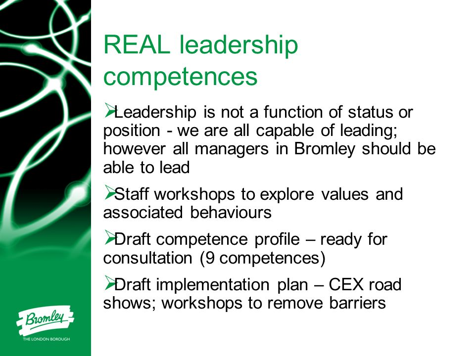 REAL leadership competences