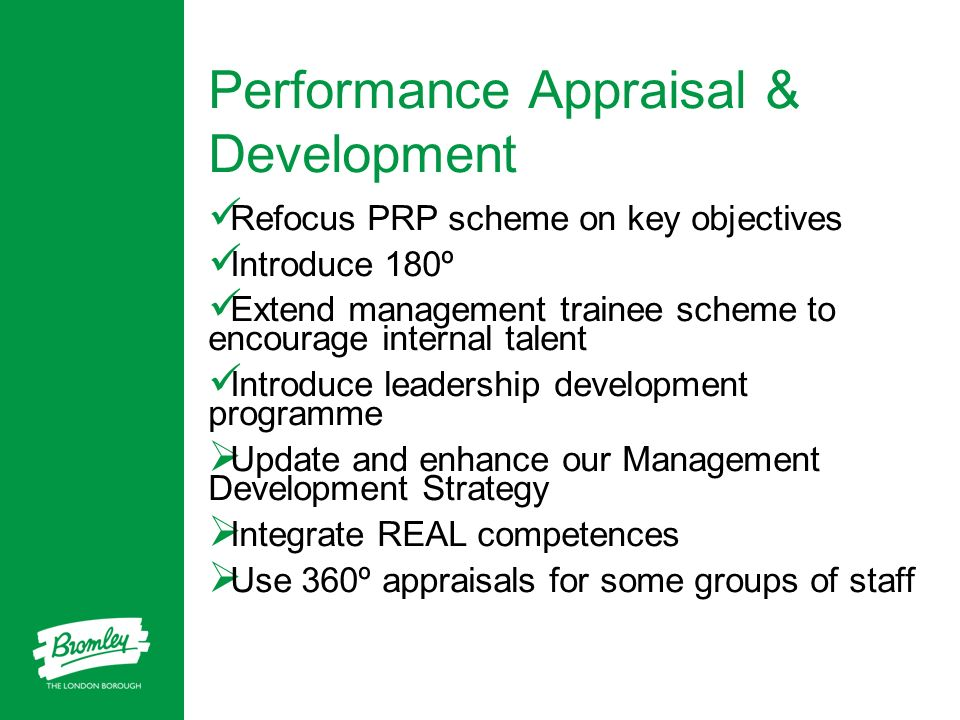 Performance Appraisal & Development