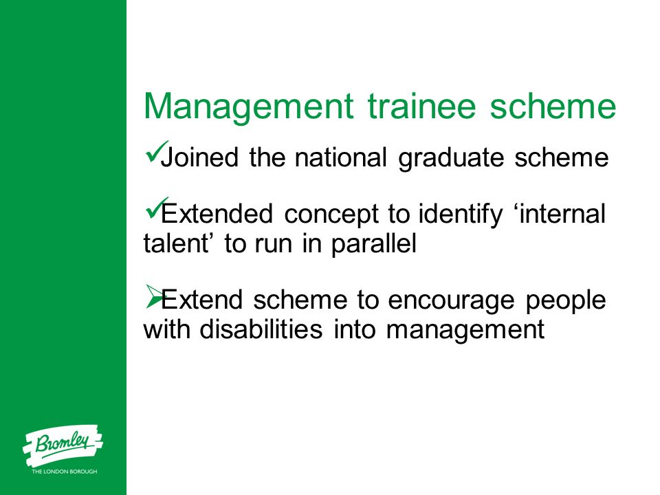 Management trainee scheme