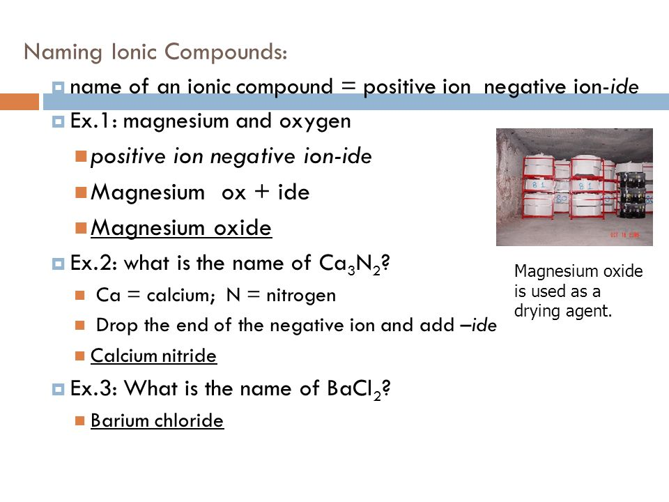 Magnesium Oxide Uses : Ionic and covalent compound naming ppt video