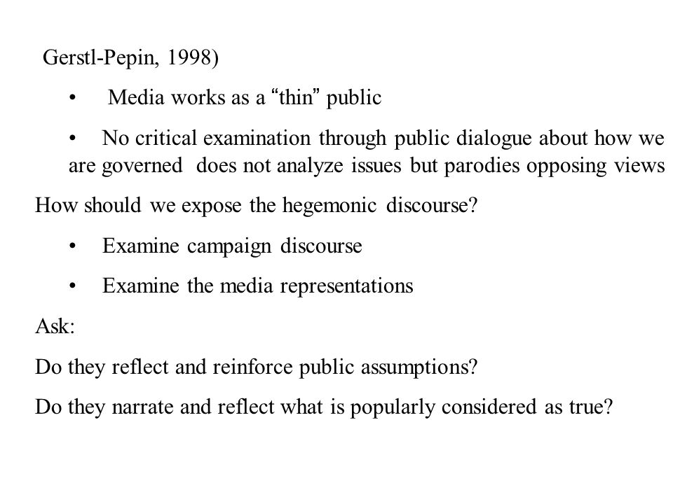 Examples List on Public Discourse