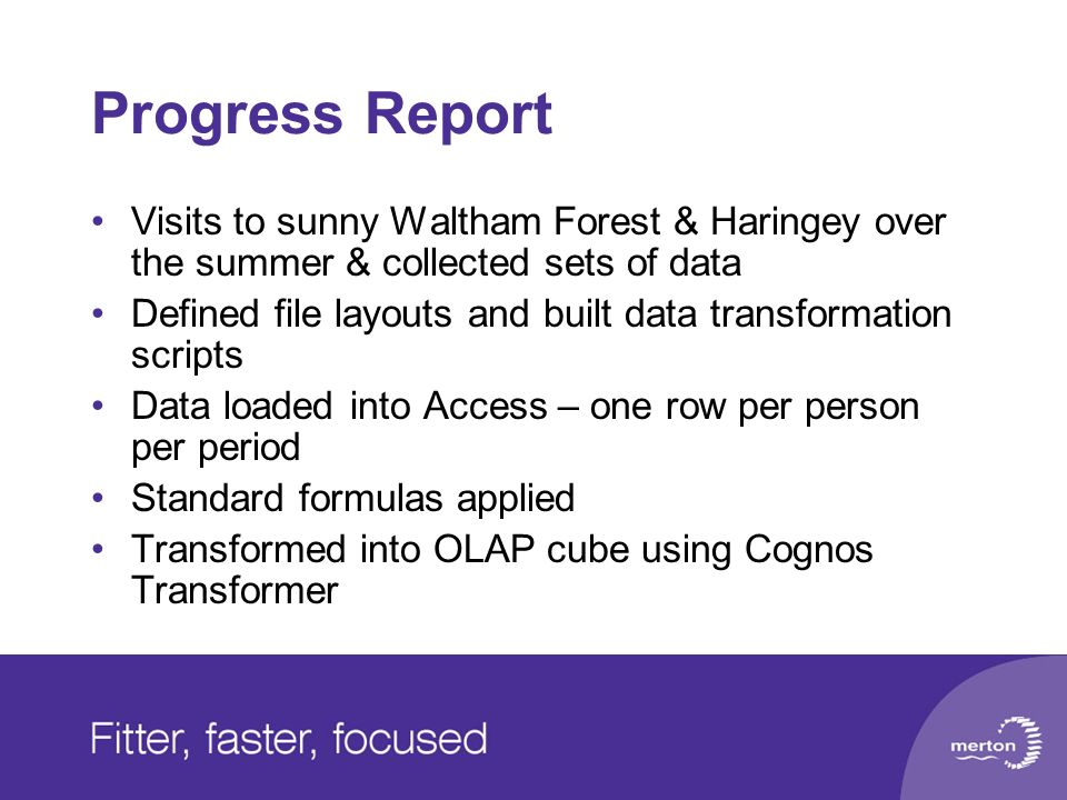 Progress Report Visits to sunny Waltham Forest & Haringey over the summer & collected sets of data.
