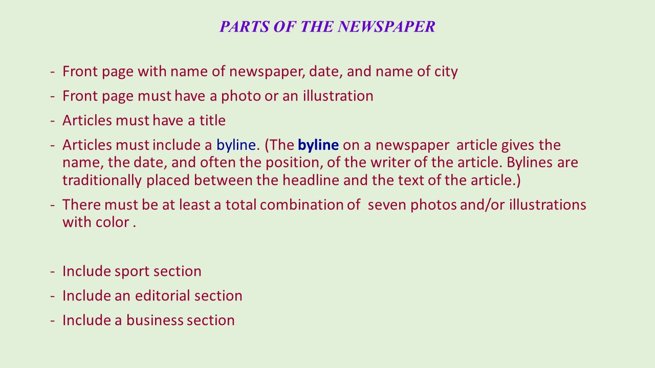 how to write a newspaper front page article newspaper