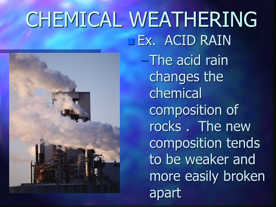 the formation and chemical composition of acid rain Acid rain acid rain was 131 chemical composition of precipitation although nh3 in the atmosphere neutralizes rain acidity by formation of nh4+.