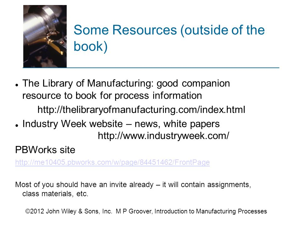 intro to manufacturing processes groover pdf