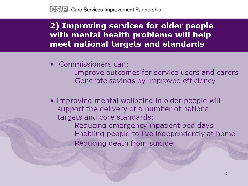 2) Improving services for older people