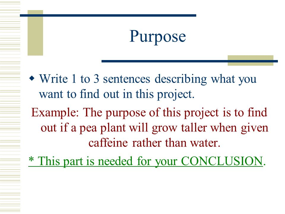 how do you write a conclusion for a science project