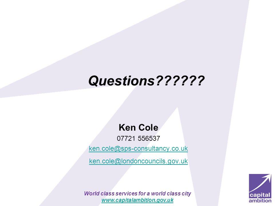 Questions Ken Cole 07721 556537 ken.cole@sps-consultancy.co.uk