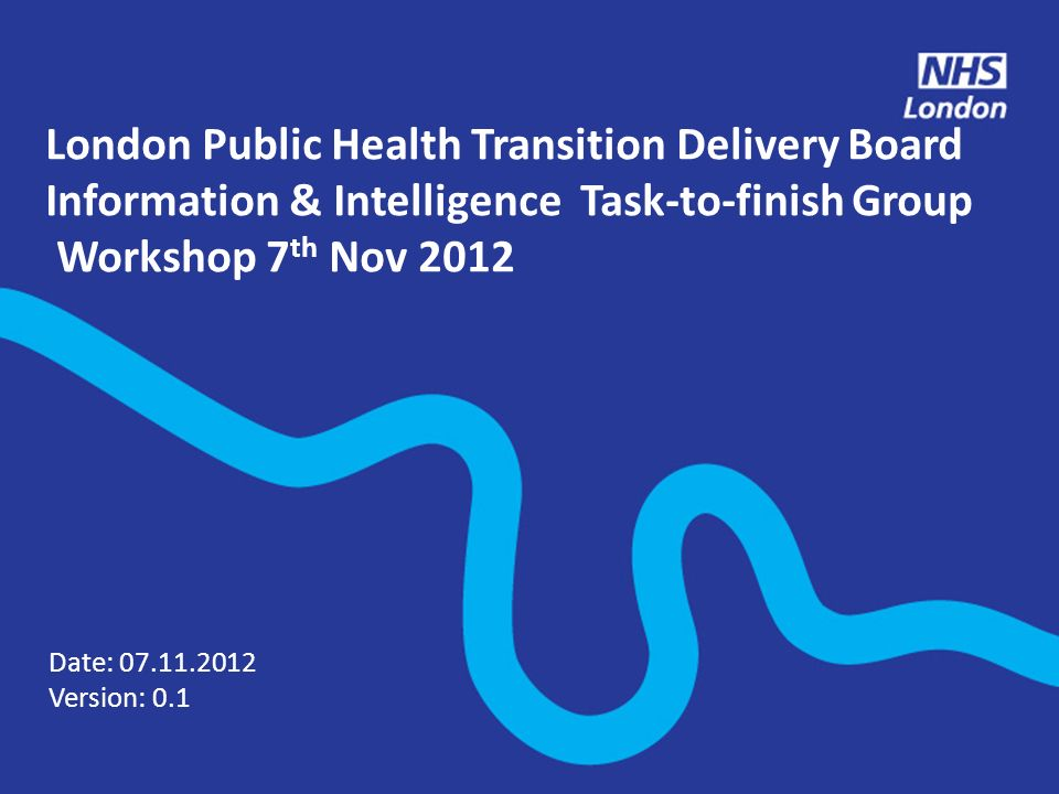 London Public Health Transition Delivery Board