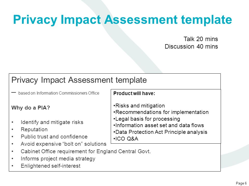 London public health transition delivery board ppt video for Privacy impact assessment template