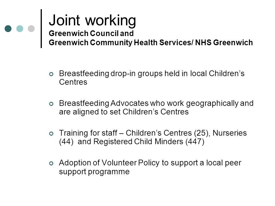 Joint working Greenwich Council and Greenwich Community Health Services/ NHS Greenwich