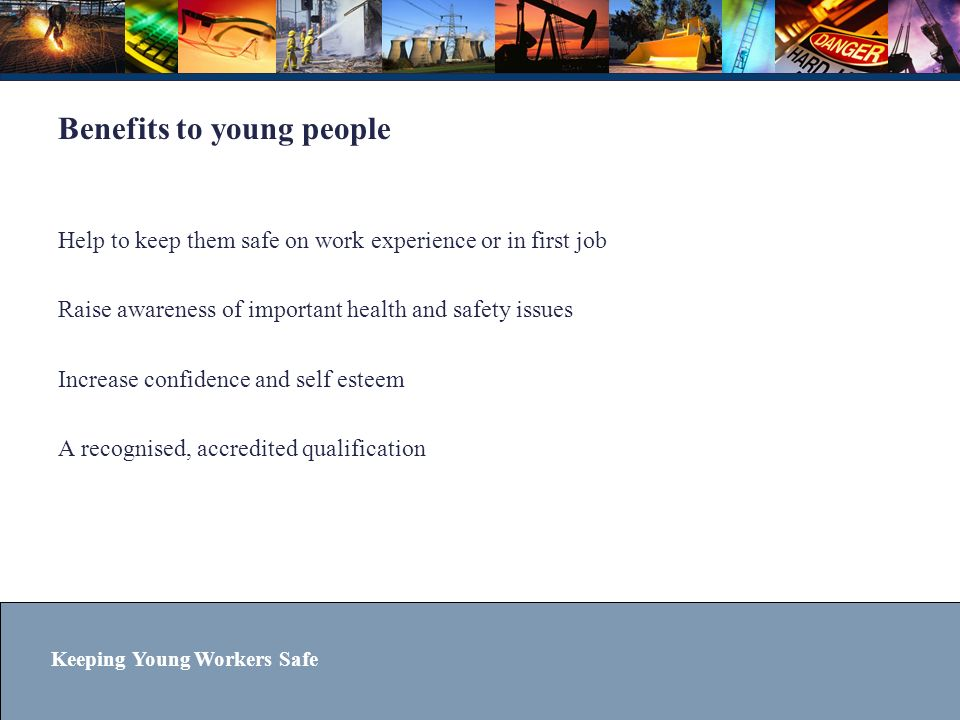 Benefits to young people