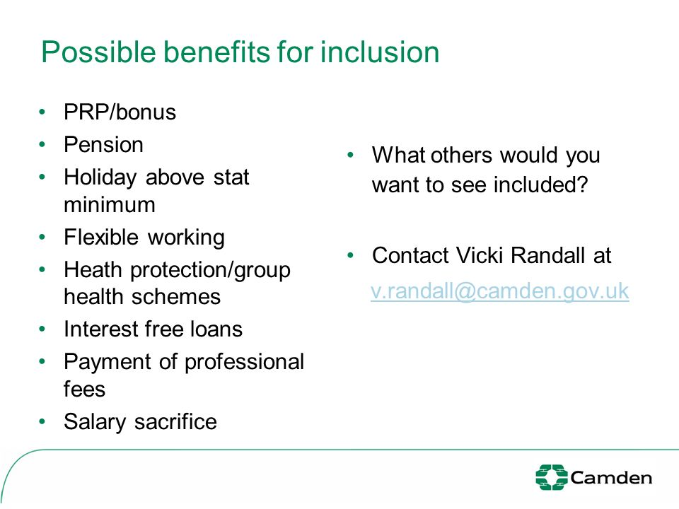Possible benefits for inclusion